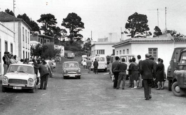Carretera General de Fuencaliente. Los Canarios. Foto: Luis Miguel Martín Lorenzo. Publicada en Historia de La Palma.