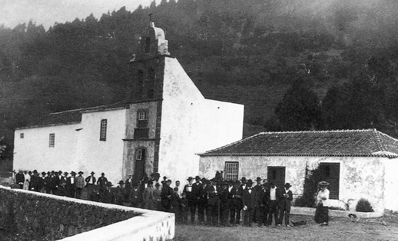 Iglesia de Los Canarios. 1980. Foto: Historia de La Palma.