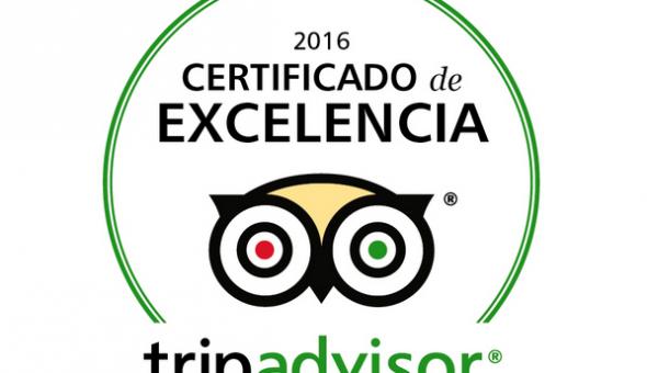 certificado de excelencia 2016 tridavisor