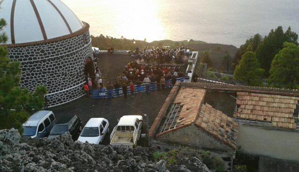 Concierto de la Banda Municipal de Fuencaliente en la ermita de Santa Cecilia durante la celebración del día de Santa Cecilia. 22 noviembre 2016.
