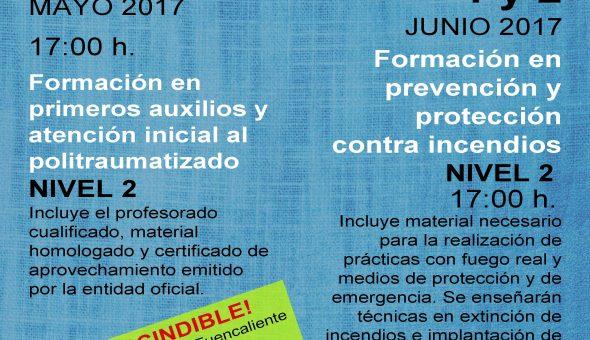 Curso-formacion-2017-nivel 2 primeros auxilios y prevencion de incendios mayo 2017