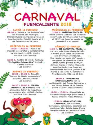 Cartel Carnaval 2018 Fuencaliente
