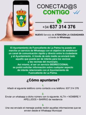 cartel-servicio de whatsapp 2018
