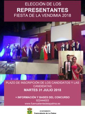 CARTEL - concurso representantes fiesta de la vendimia 2018