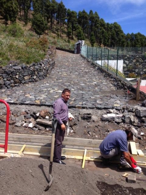 Arreglos sendero GR130 Transvulcania