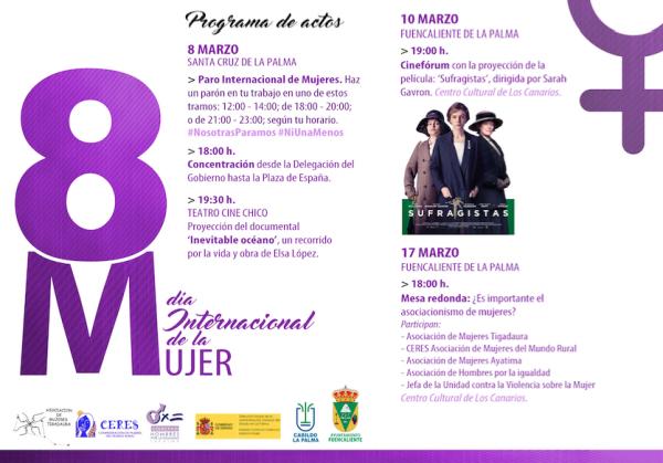 programa actos dia internacional de la mujer 2017